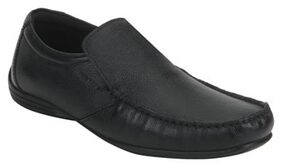 Red Tape Men Black Leather Loafers-RTE0091A BLK-11