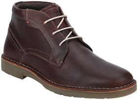 Red Tape Men Brown Ankle Boots