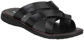 Red Tape Men Black Outdoor Slippers - Rse0841