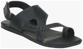 Red Tape Men Black Sandals & Floaters