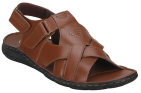 Red Tape Men Tan Sandals & Floaters