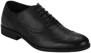 Red Tape Men Black Brogues Formal Shoes