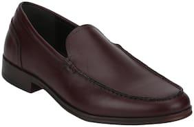 Men Brown Slip-On Formal Shoes