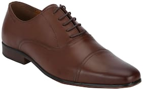 Red Tape Men Brown Oxford Formal Shoes