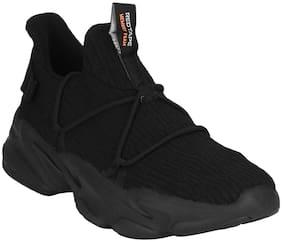 Red Tape Men Black Sports Walking Shoes