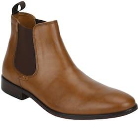 Men Tan Chelsea Boots ,Pack Of 1 Pair