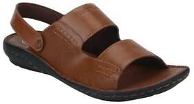 Red Tape Men Brown Sandals & Floaters