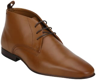 Red Tape Men Tan Derby Formal Shoes - RTE1183