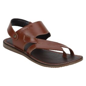 Red Tape Men Tan Leather Sandals