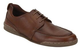 Red Tape Men Tan Leather Sneakers