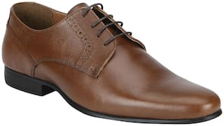 Red Tape Men Tan Derby Formal Shoes