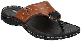 Red Tape Men Tan Outdoor Slippers