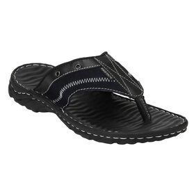 Red Tape Men Black Outdoor Slippers