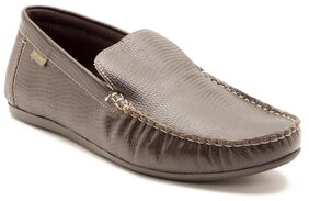Red Tape Men Slip On Brown Leather Loafers