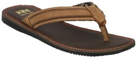 Red Tape Men Tan Leather Slippers-RSE0233 TAN-6