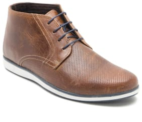 Men Tan Ankle Boots ,Pack Of 1 Pair