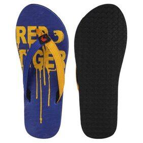 Red Tiger Blue & Yellow Men Flip Flop