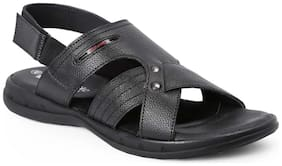 Red Chief Men's Black Casual Leather Sandal Rc3466 001