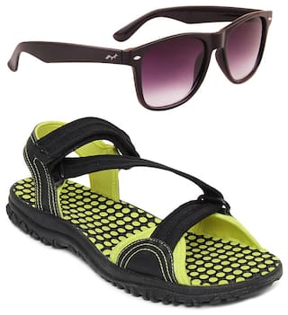 b0b5f290fa Buy Reebok Green Combo Of Sandals And Sunglasses Online at Low ...