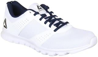 Reebok Men's Breeze Run White Running Shoes
