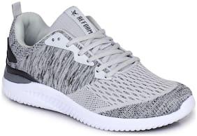Refoam Men's Black & Grey Flyknit Running Sport Shoes