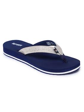 Refoam Women's Navy Blue Textile Slip On Casual Slipper