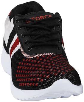 Reforce Black/Red Sports Shoes for Men