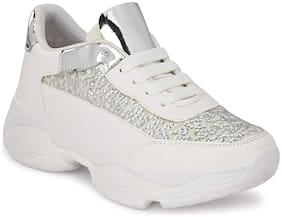 REFORCE Women White Sneakers