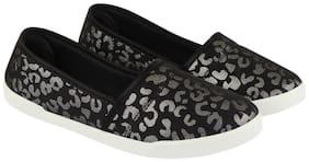 Rex Shoes Women Black Slip-On Shoes