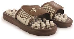 Men Diabetic & Orthopaedic Slippers ( Brown )