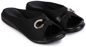 RIMBOLL Women Black Sandals