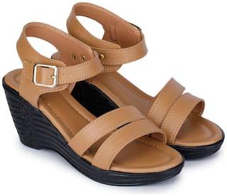 RIMBOLL Women Beige Sandals