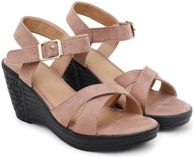 RIMBOLL Women Pink Wedges