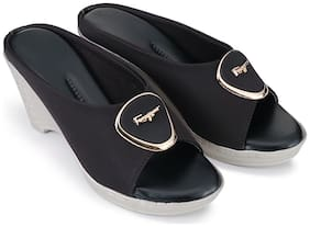 RIMBOLL Women Black Wedges