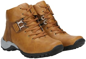 RIMONI Men's Tan Outdoor Boots