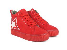 Ripley DRY Series Red Women Suede Sneakers