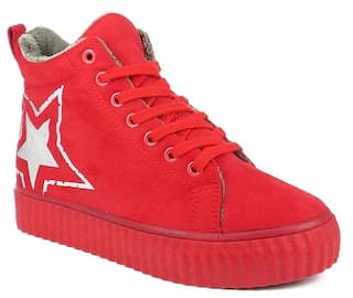 b837e0b9eef9 Buy Ripley Women Red Sneakers Online at Low Prices in India ...
