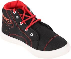 RIVER HILL Top Causal Men Black & Red Sneakers