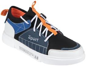 ROBBOX Men's Walking Shoes Men Orange Sneakers