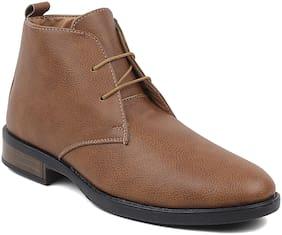 Rod Takes Men Tan Ankle Boots - BT03-TAN - BT03-TAN