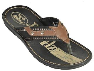 79bf6703103b Buy Royalz By Ajanta Men s Classy Sandal - Brown   Black Online at ...