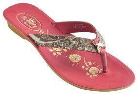 Royalz By Ajanta Women's Classy Sandal Slipper - Red