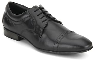 6ad6c6f2fbe3 Buy Ruosh Men Black Formal Shoes Online at Low Prices in India ...