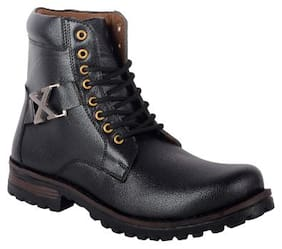 RYKO Men's Black Ankle Boots