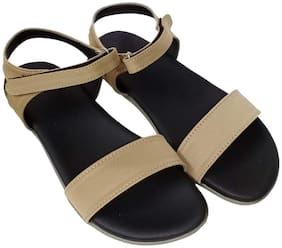 Saanvishubh Women Beige Sandals
