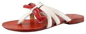 Salt N Pepper White Slippers