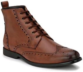 San Frissco Men's Brown Ankle Boots