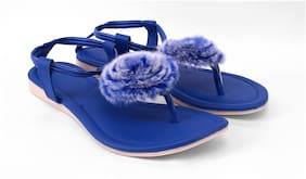 SAYERA Women Blue Sandals