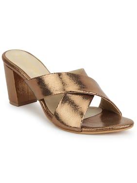 Scentra Women Copper Sandals