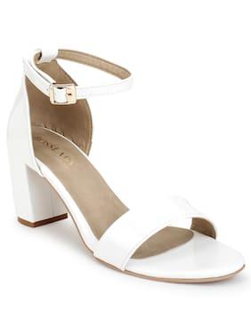 Scentra Women White Sandals